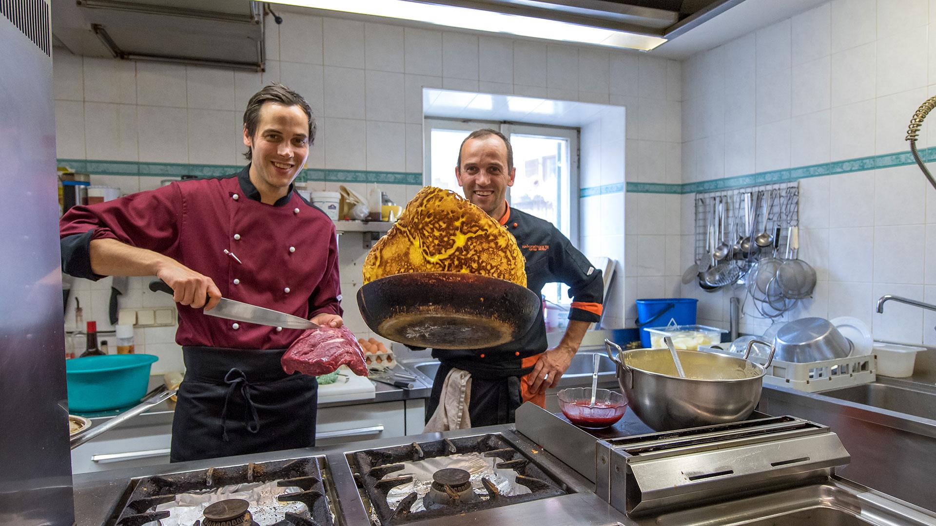 Das kreative Küchenteam im Restaurant Rabenstein im Sarntal