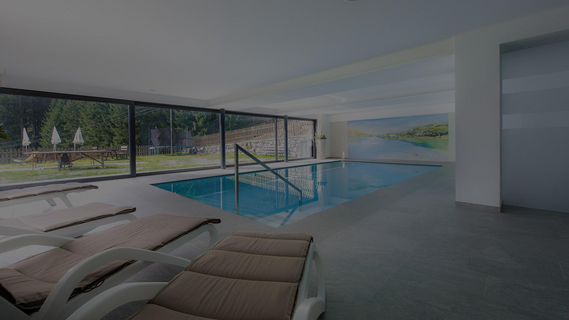 Neues Hallenbad und Sauna | Hotel Restaurant Rabenstein Sarntal